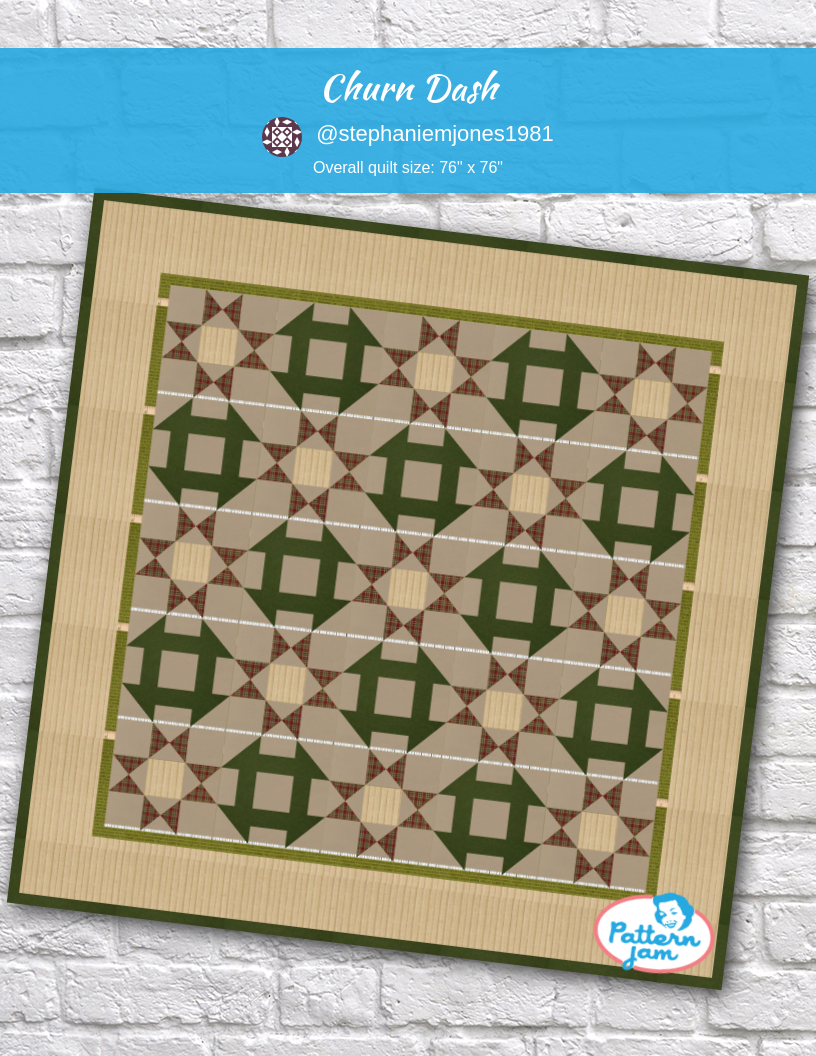 Churn Dash With Images Barn Quilt Patterns Quilt Patterns Custom Quilts