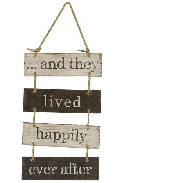 Happily Ever After Wood Plank Plaque ($15) ❤ liked on Polyvore featuring home, home decor, distressed home decor and black and white home decor