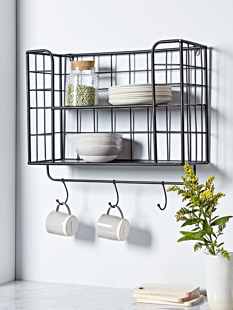 Metal Eppendorf Rack Kitchen Wall Storage Metal Shelves