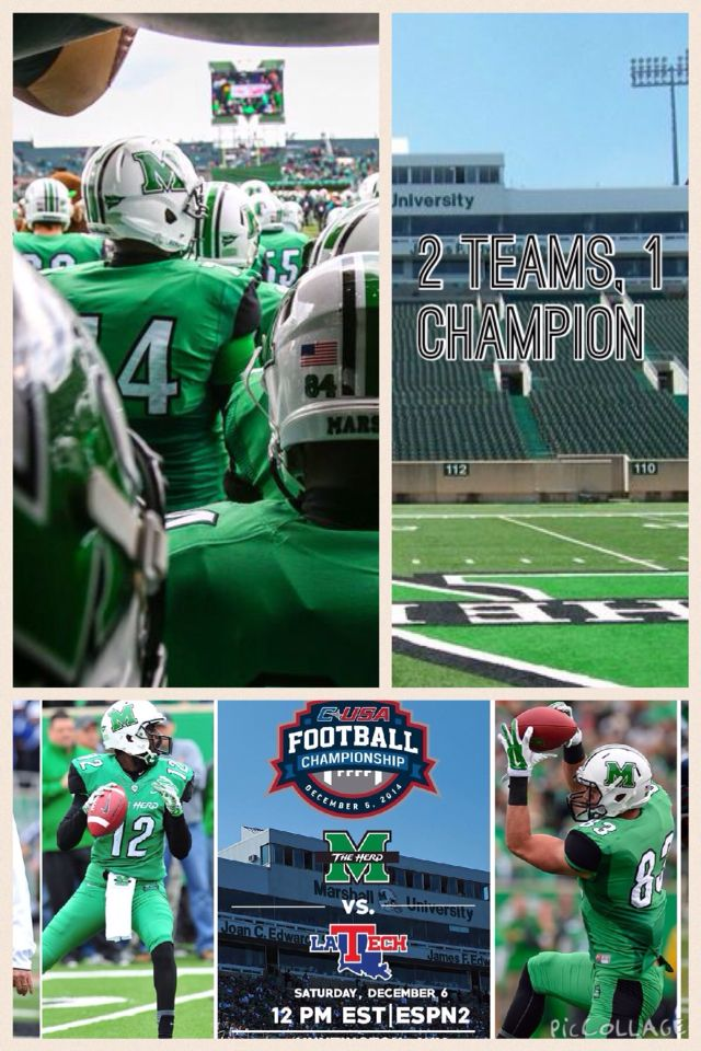 The champion is US!! Marshall thundering herd football