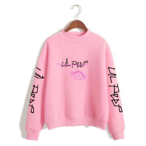 509b52fa3b39 Details about    Lil Peep Sweater Hip Hop Hoodie Rapper Sad Face ...