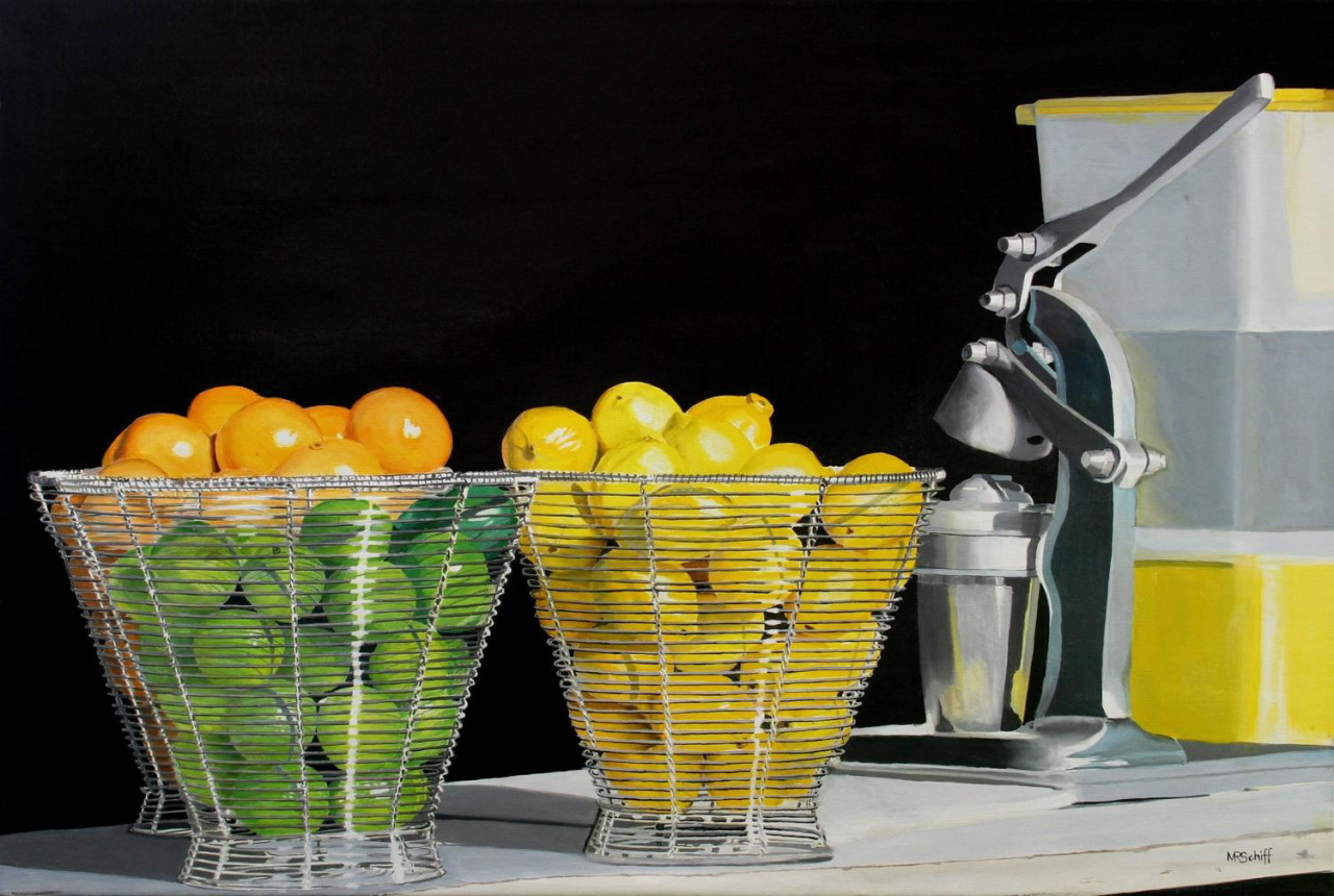 Sweet and Sour Freshly Squeezed Juice, 2004. Mark Schiff. Oil on…