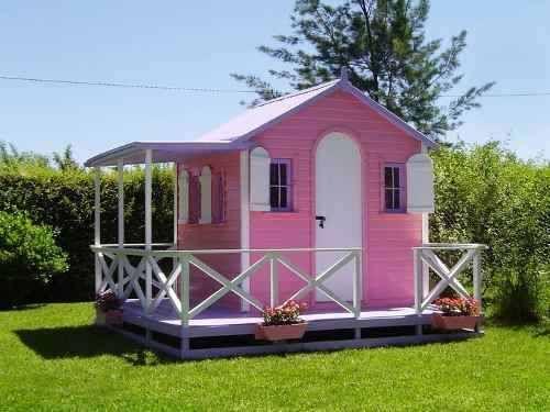 Casita de madera para ni os premium maa 15 for Casas de juguete para jardin baratas