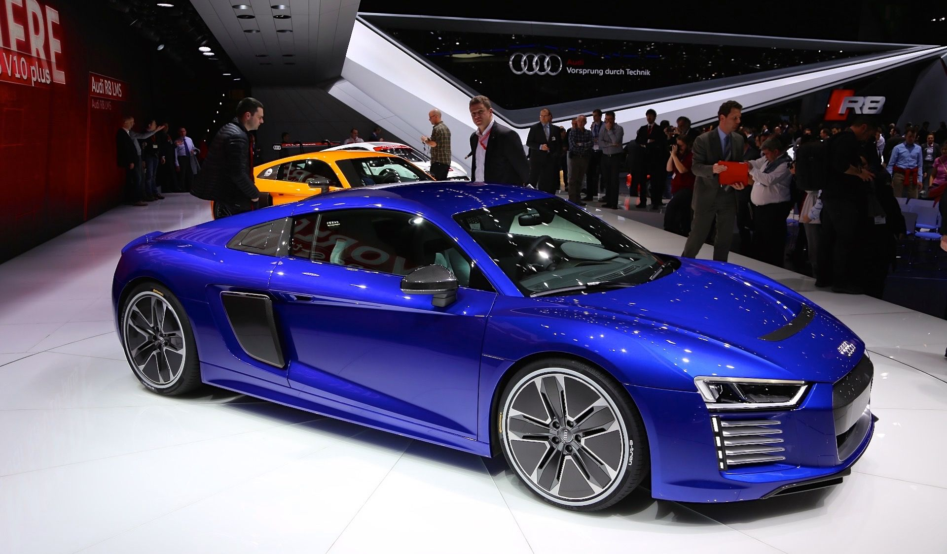 The all new audi r8 e tron battery electric version audi had previously