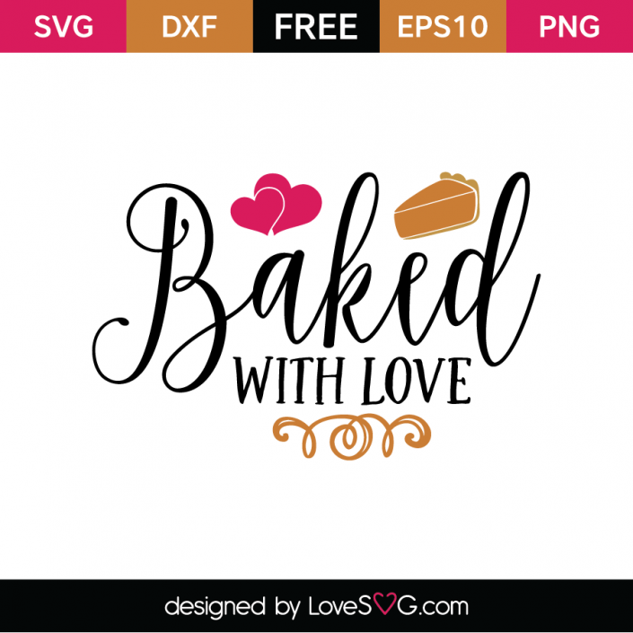Download Baked with love   Svg, Cricut free, Free svg