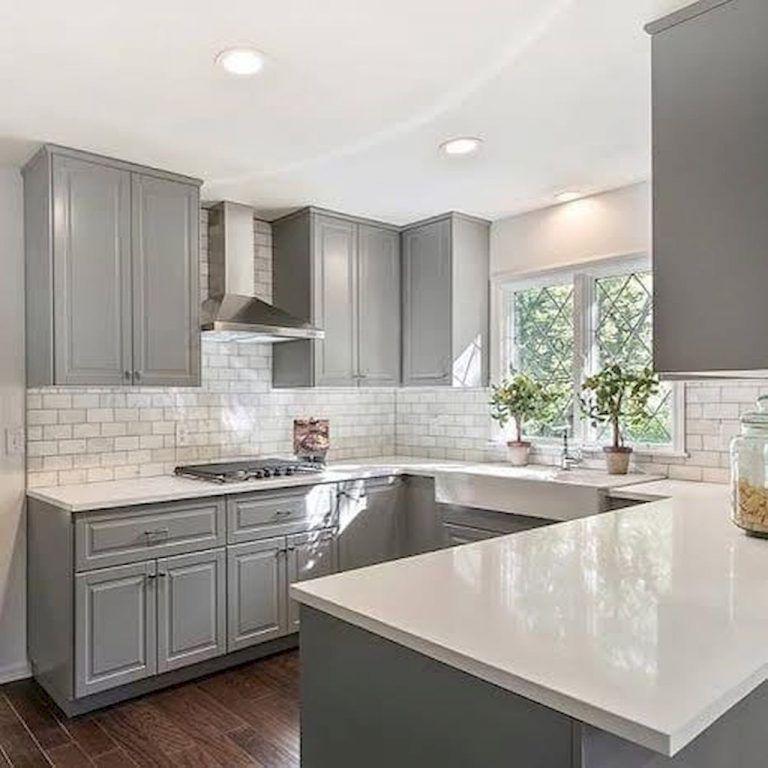 24 Grey Kitchen Cabinets Designs Decorating Ideas: 100 Elegant White Kitchen Cabinets Decor Ideas For