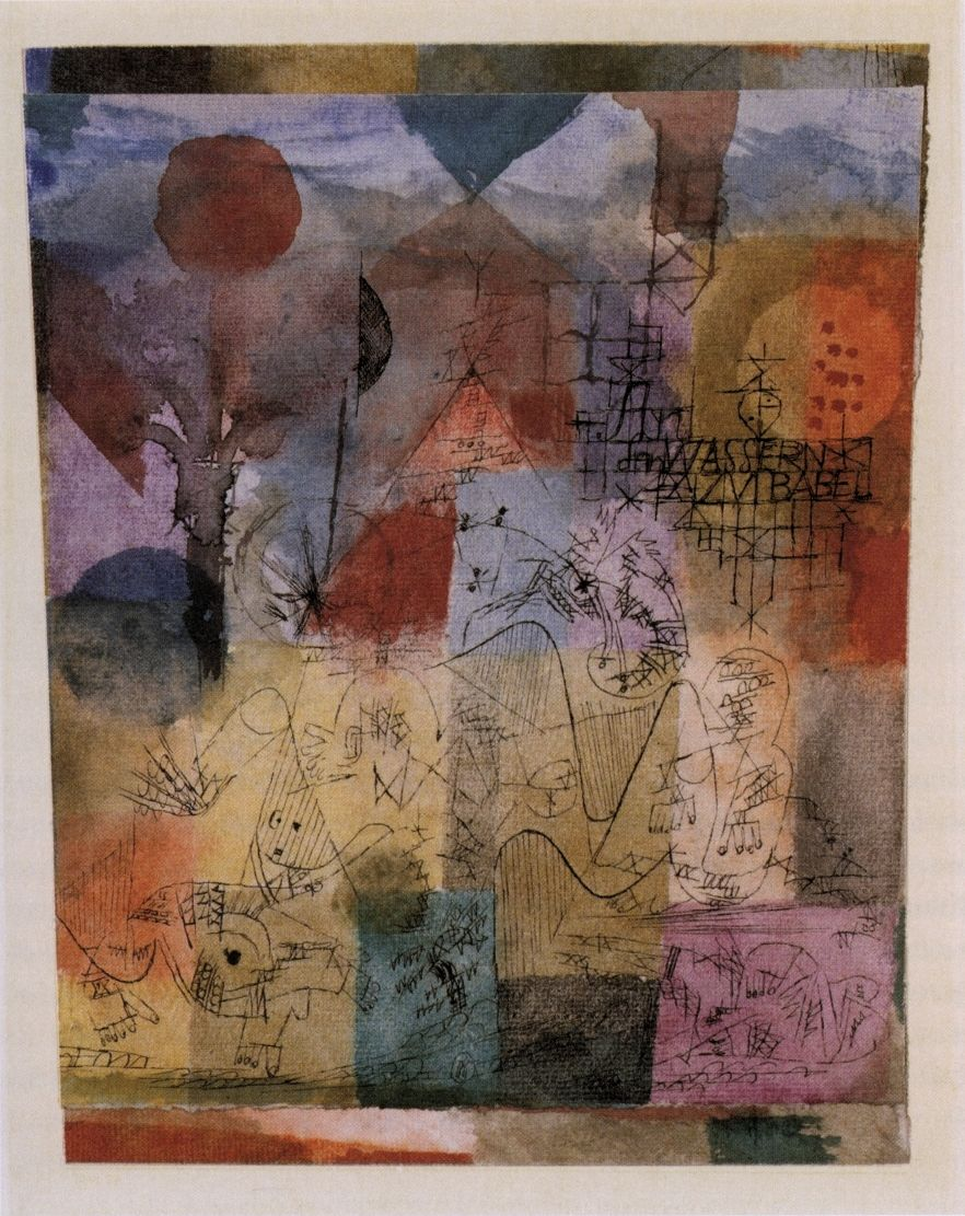 Paul Klee (1879-1940), An den Wassern zu Babel (On the Waters of Babel), 1918. Watercolour and pen on paper on cardboard.