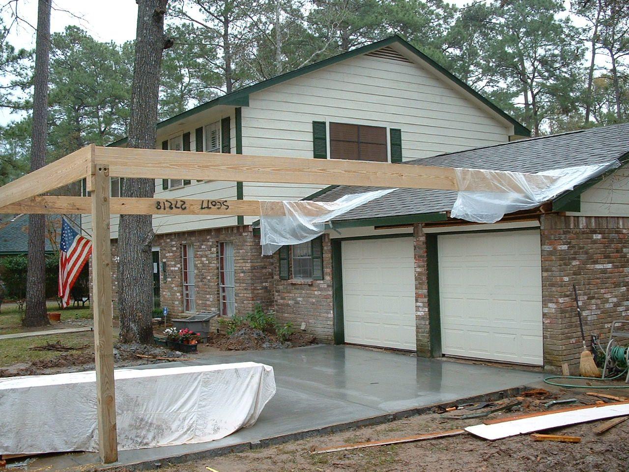 Carport In Front Of Garage Google Search Diy Carport Carport Carport Makeover