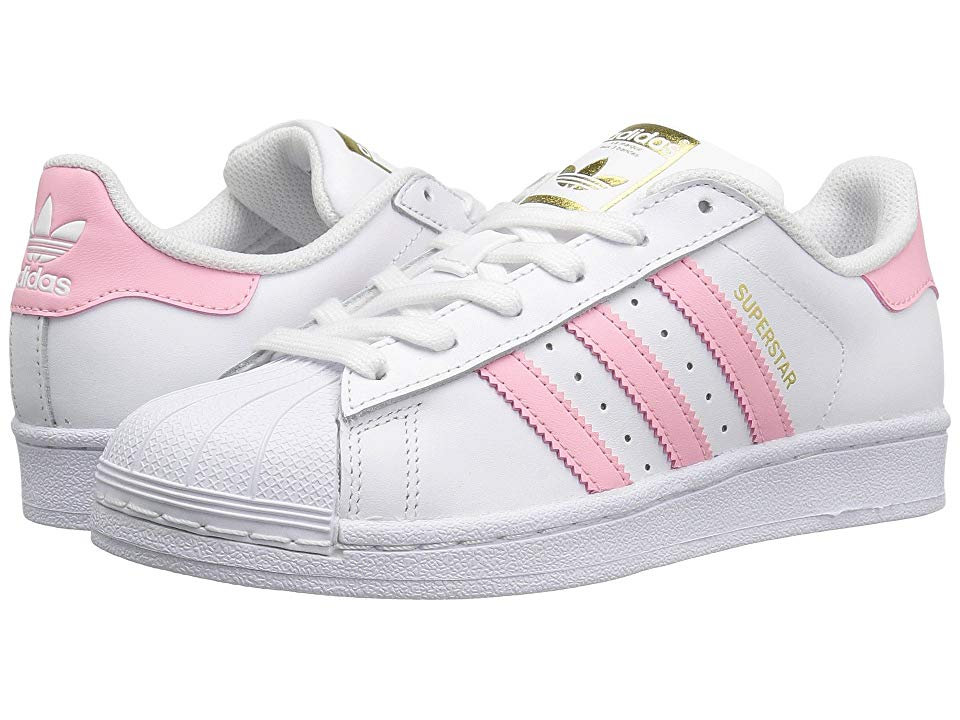 adidas superstar shoes white and pink