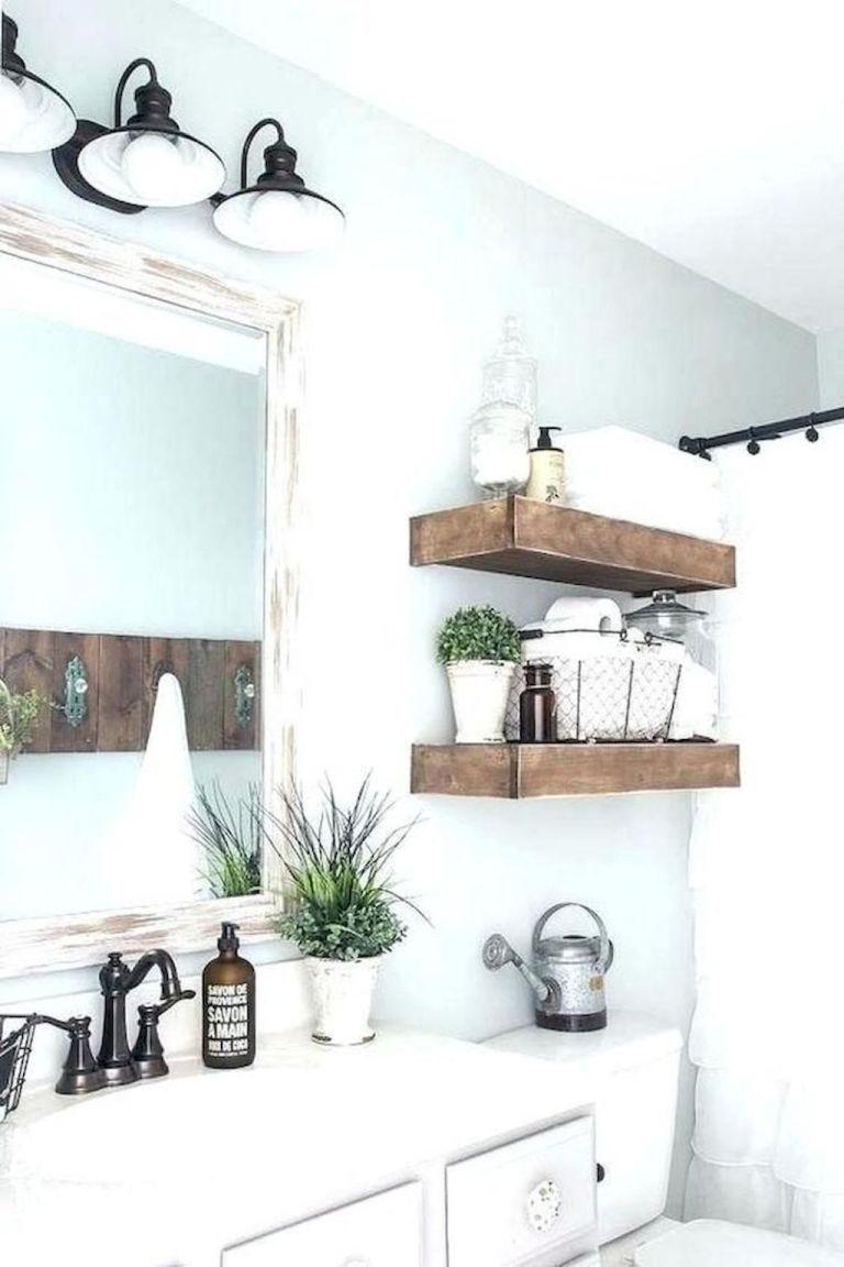 80 Beautiful Farmhouse Bathroom Decorating Ideas Country