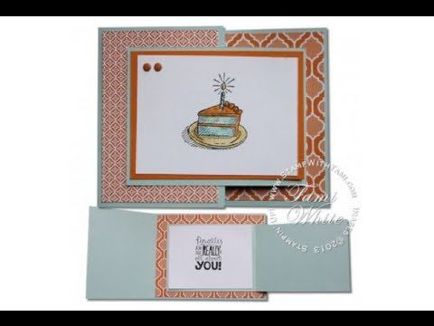Stampin Up Joy Fold Sketched Birthday Card W Candy Dots Youtube