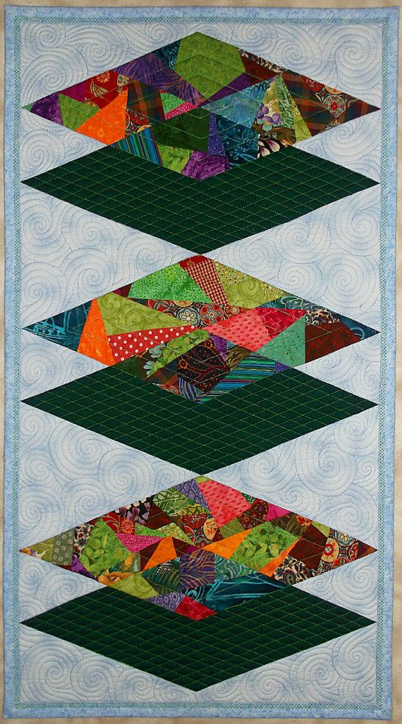 Wall Quilt Modern Art Quilts Quilted Wall Hanging