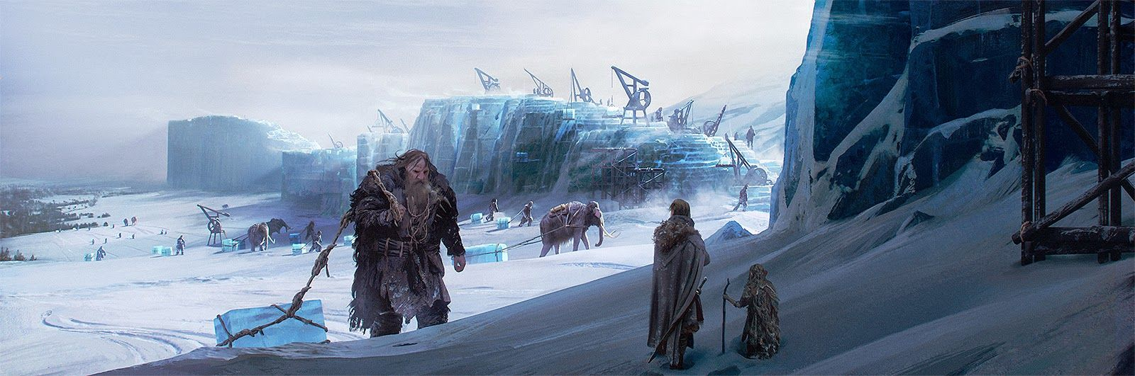 The World Of Ice And Fire Building Wall