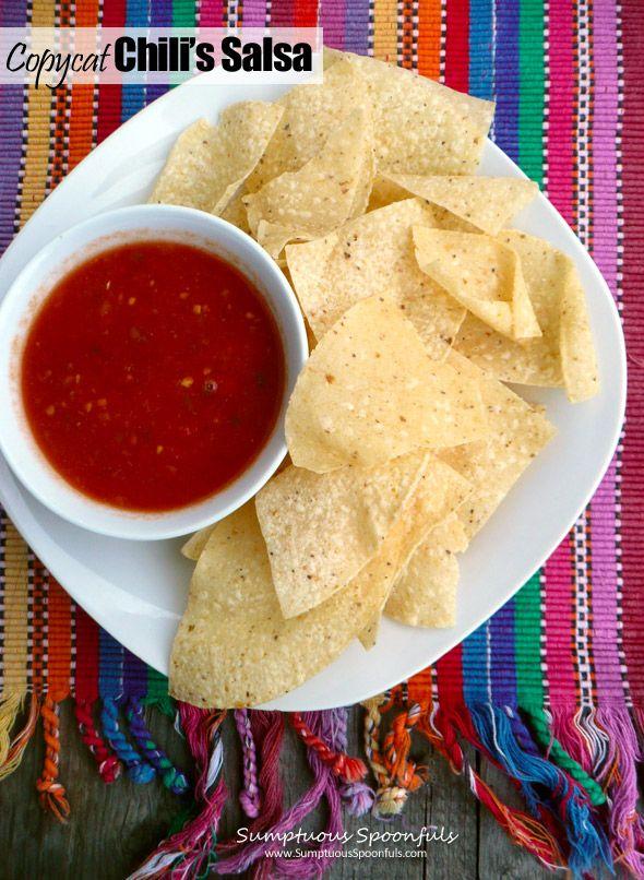 Copycat Chili S Salsa Sumptuous Spoonfuls Recipe Recipes Easy Salsa Recipe Chips And Salsa