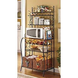I Have The Bakers Rack And Need The Extra Counter Space So This Is My Plan With Images Bakers Rack Kitchen Bakers Rack Farmhouse Bakers Racks