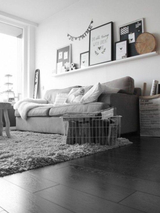 woonkamer inspiratie grijs | Interior design | Base colors ...