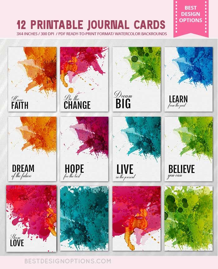 Amazing Life Quotes For Inspiration Free Printable Cards: FREE Journaling Cards And Tags With Motivational Quotes