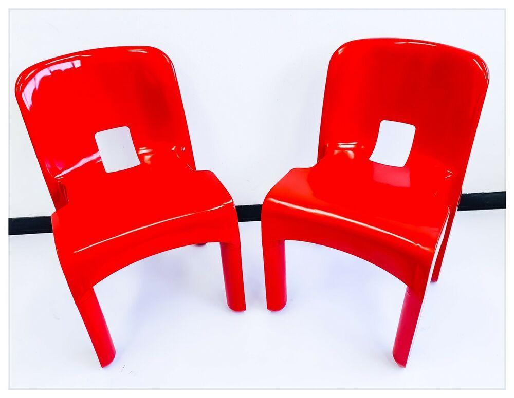 Dettagli su sedia coppia sedie vintage kartell 4867 for Sedie vintage design