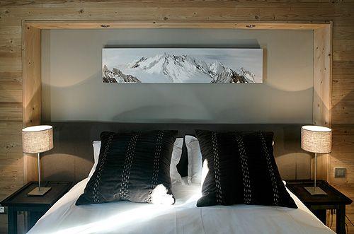 Chalet h tel kaya tendance chalet de montagne for Decoration maison de montagne