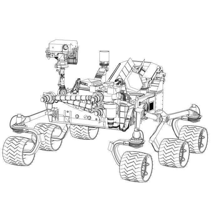 Mars Curiosity Rover by Brian Haeger at Coroflot.com