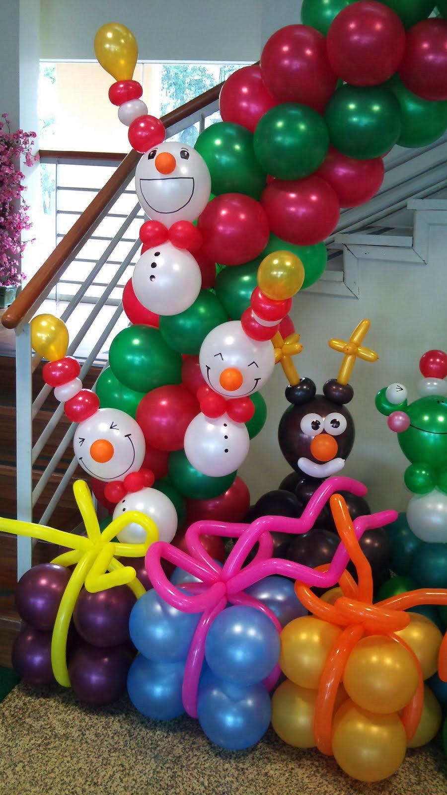 Decoracion navide a con globos christmas balloons and - Decoracion de navidad con globos ...