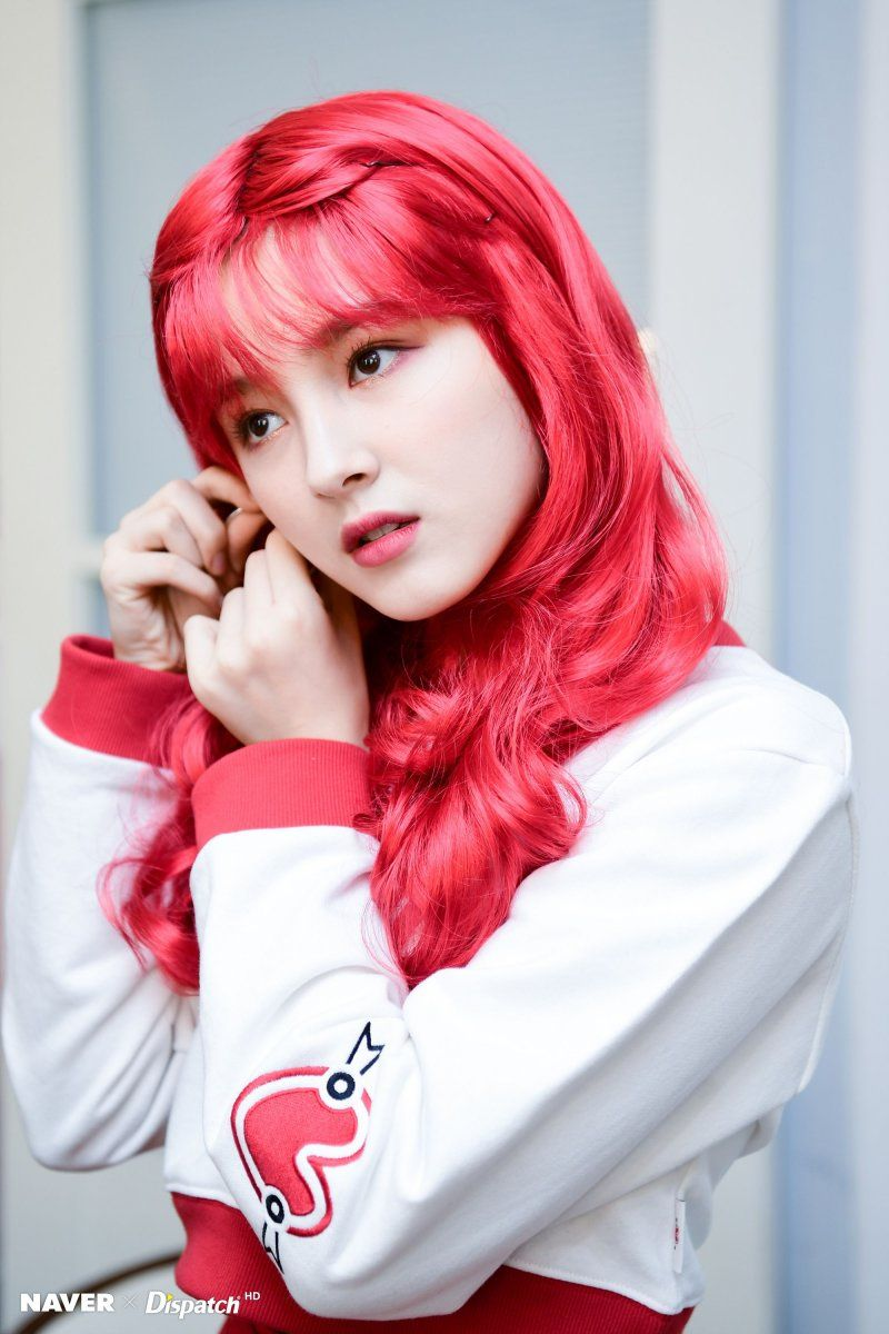MOMOLAND Nancy - Naver x Dispatch red hair.