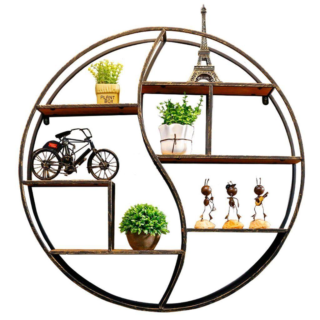 Wandregal Metall Eisen Holz Fur Bar Wohnzimmer Loft Wandbehang
