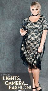 Plus Size 1X to 5X vintage-retro formal evening Lace Dres