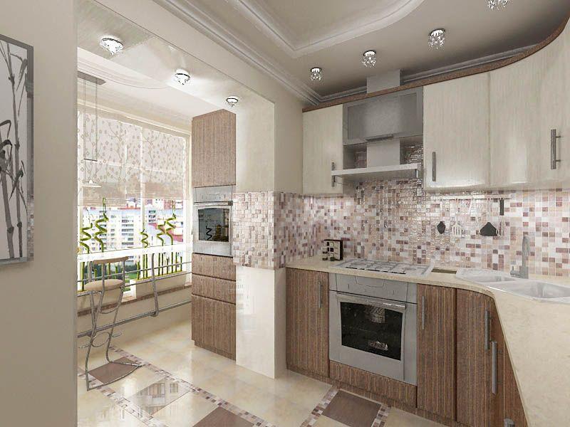 Фото ремонт кухня с балконом балконы остекление краснодар недорого