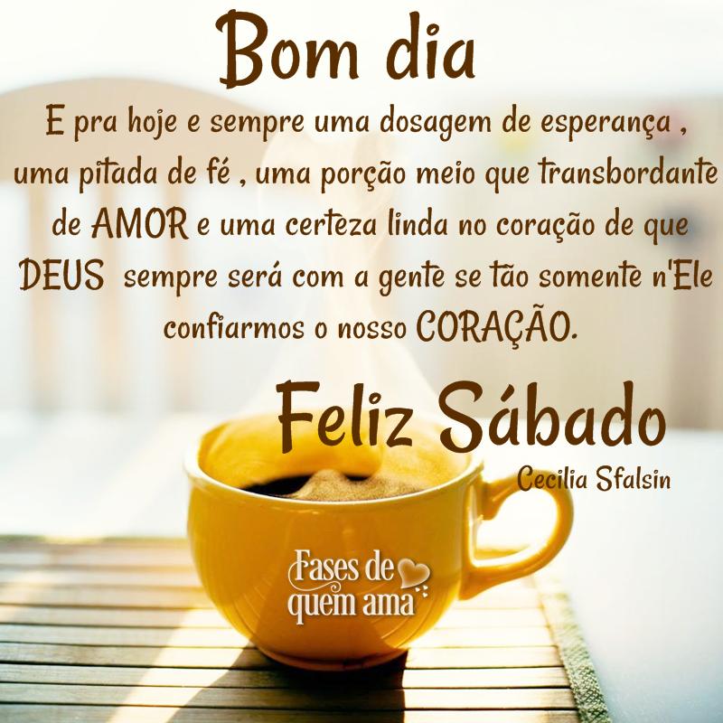 Feliz sábado com café