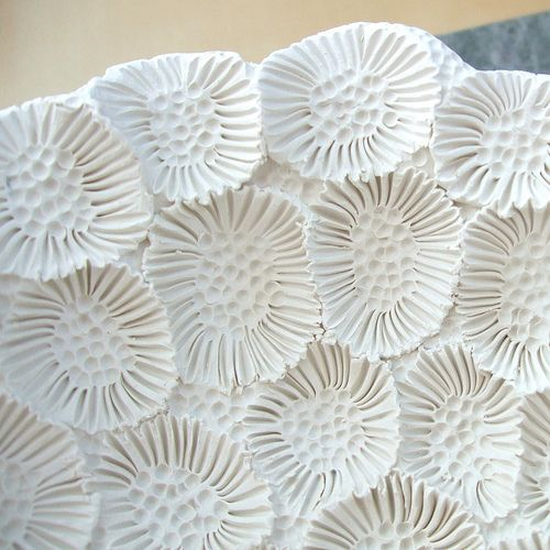 From Sophie Cristaline's Ceramique board - it is an inspiring collection of ceramic textures of the sea.