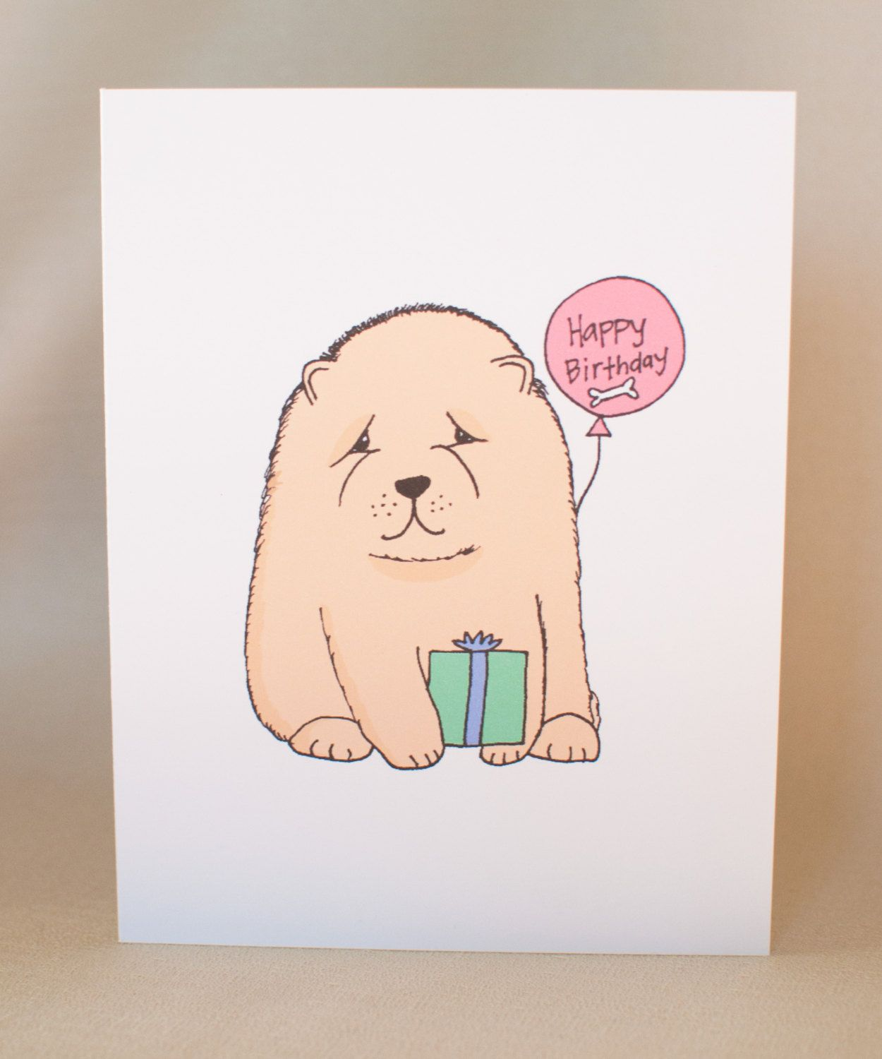Chow chow puppy birthday card greeting card chow greeting unique chow chow puppy birthday card greeting card chow greeting unique card kawaii kristyandbryce Gallery