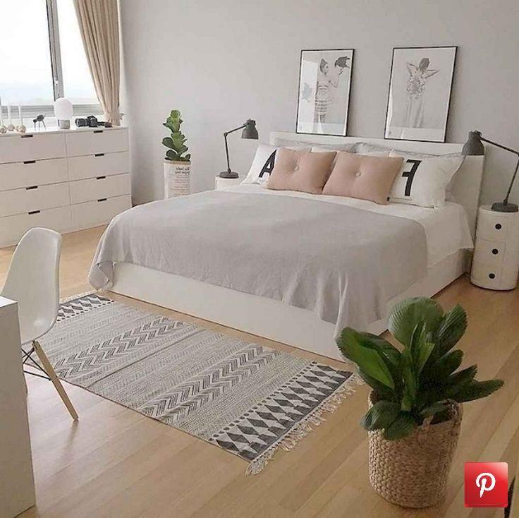 59+ Beste minimalistische Schlafzimmer Ideen Dekoration ...