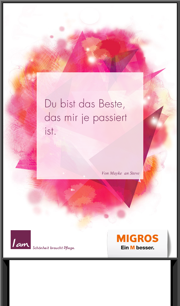 Wähle Dein liebstes Kompliment beim Migros I am Wettbewerb und gewinne tolle Preise. Jetzt mitmachen!