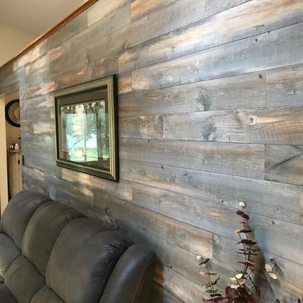 Backcountry From The Forest Rustic Wood Wall Paneling 1 4 In Thick By 5 1 In Width 24 To 48 In Varying Len Wood Pallet Wall Rustic Wood Walls Ship Lap Walls