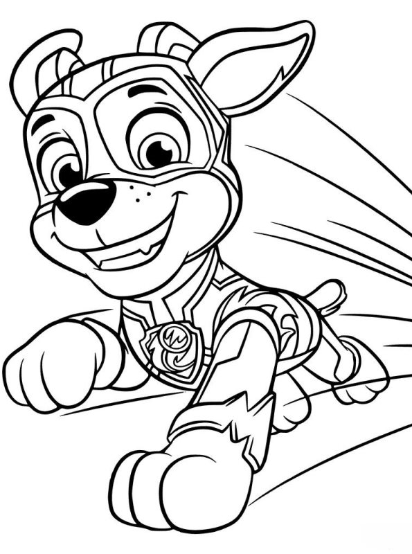 Kids N Fun Com Coloring Page Paw Patrol Mighty Pups Paw Patrol Mighty Pups Chase Paw Patrol Coloring Pages Paw Patrol Coloring Unicorn Coloring Pages