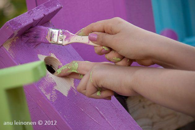 Minitalossa nähdään väri-iloittelua!  @ Loma-asuntomessut Lappeenrannassa 2012
