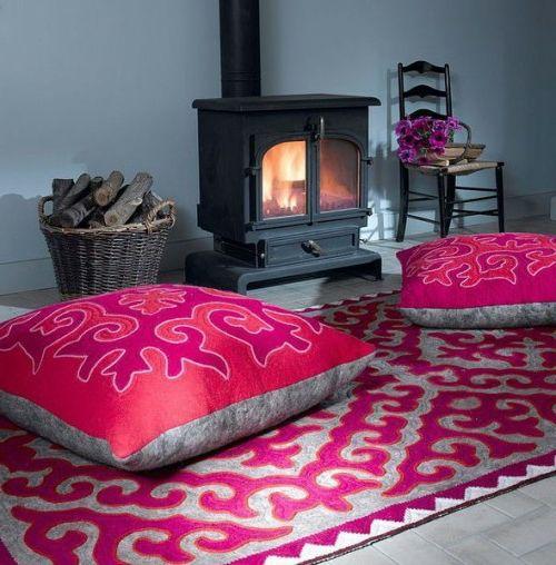 Bodenkissen orientalisch  Orientalische Wohnideen-verschönern Sie Ihr Wohnzimmer mit ...