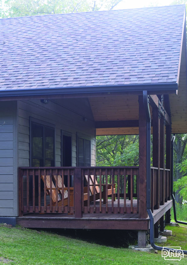 Relaxing Porch On A Cabin At Lake Darling State Park Iowa