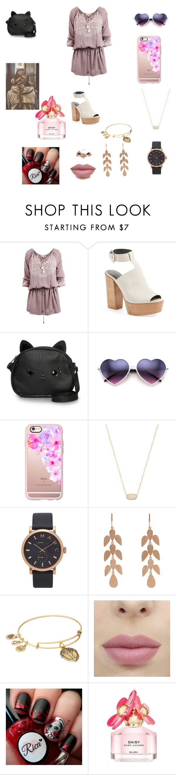 """"" by keilydelgado on Polyvore featuring Rebecca Minkoff, Loungefly, Casetify, Kendra Scott, Marc Jacobs, Irene Neuwirth and Alex and Ani"