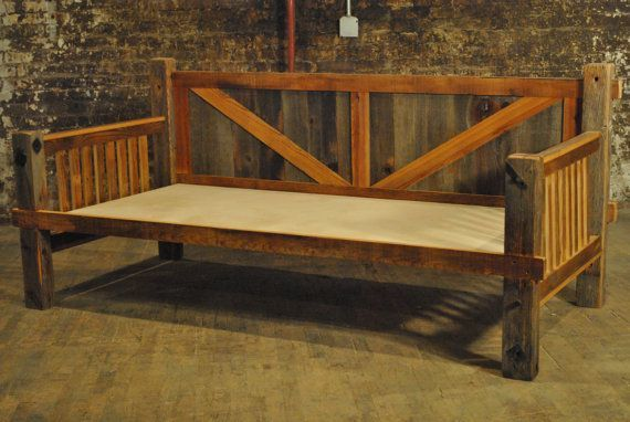Barn Wood Day Bed Barn Wood Daybed By Adventureindoors On Etsy