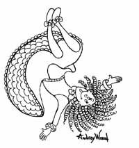 Silly Sally coloring page via www.audreywood.com (With