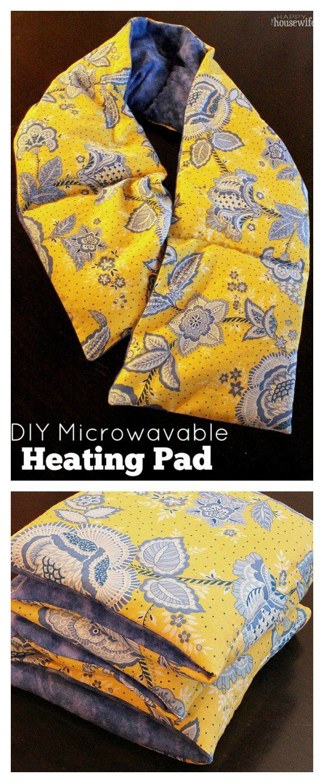 DIY Reusable Microwavable Heating Pad Homemade heating