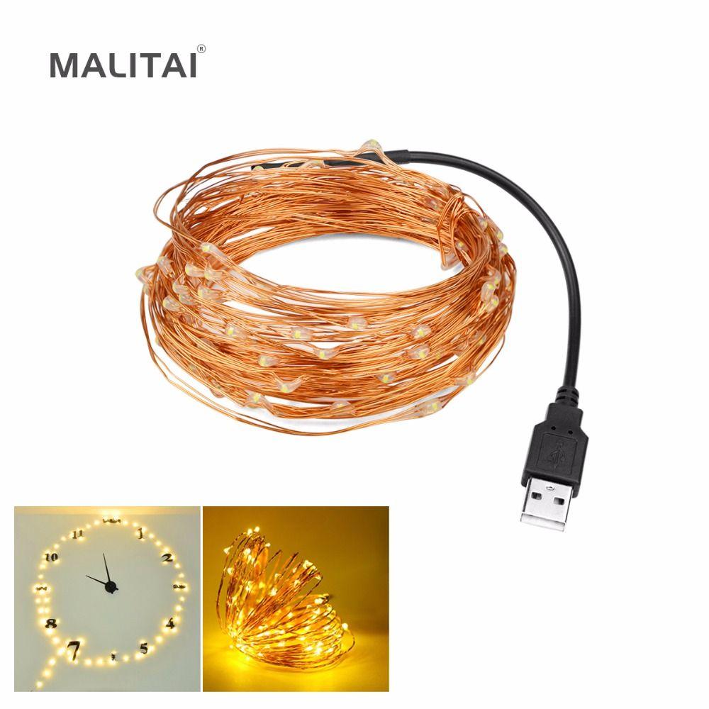 50 100 LED String lampe 5 V 5 Mt 10 Mt USB Led-streifen fee ...