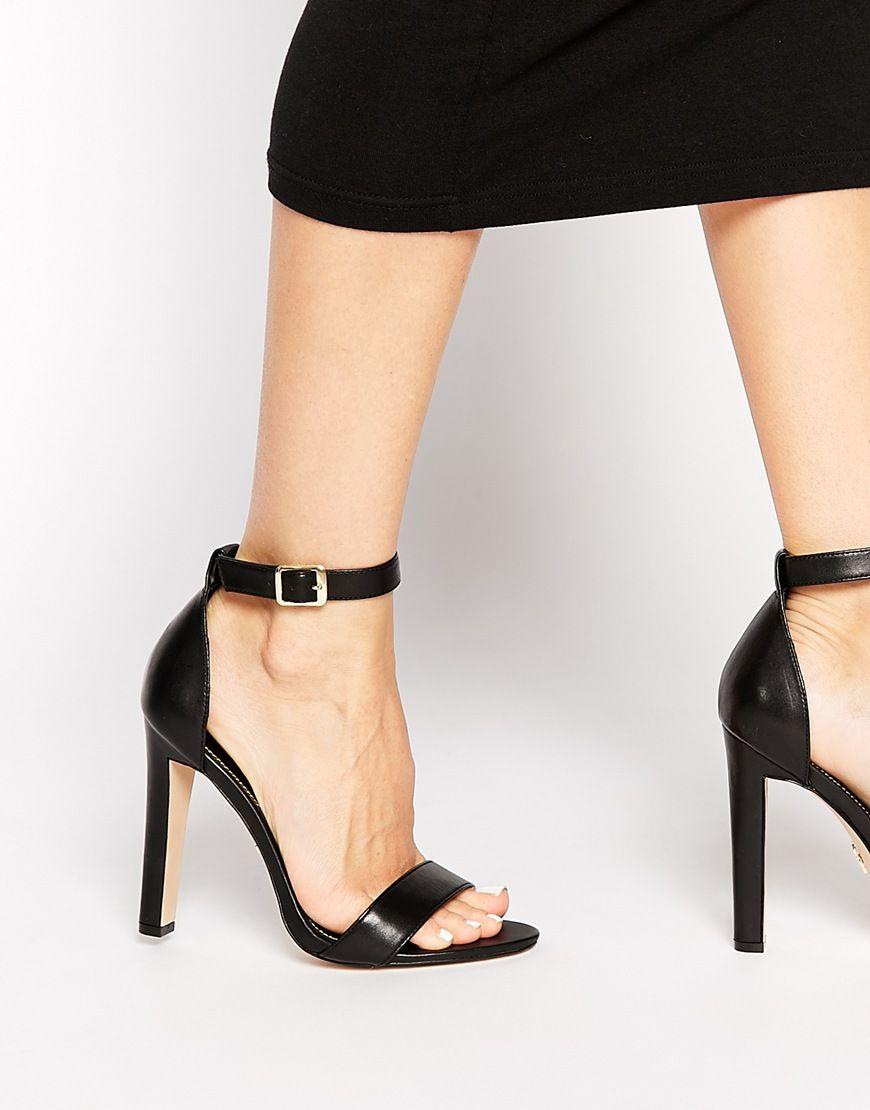 image 1 windsor smith desiree sandales minimalistes en cuir talons noir shoes. Black Bedroom Furniture Sets. Home Design Ideas
