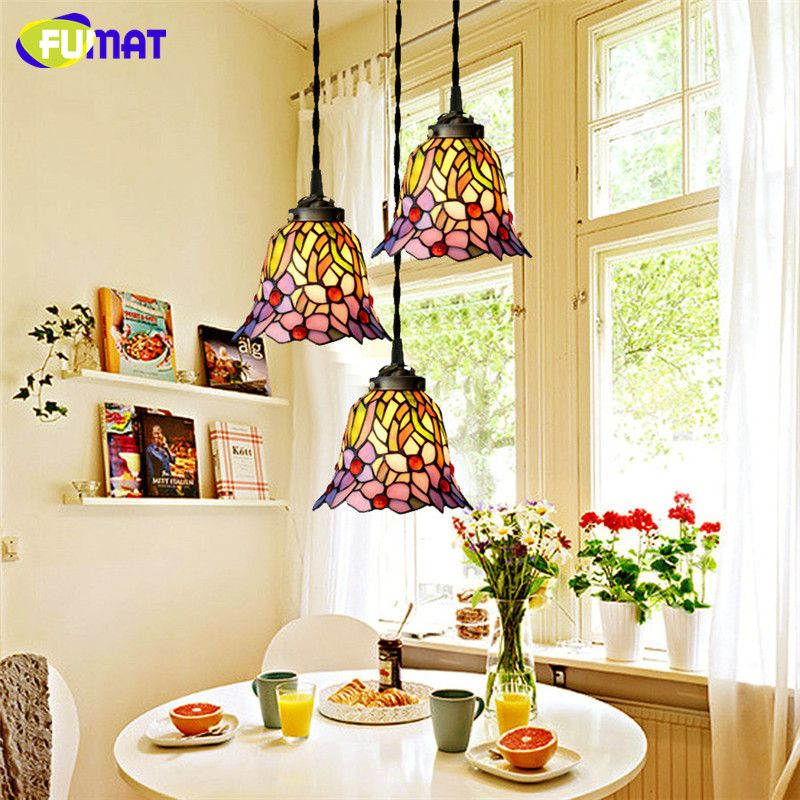 Buy Tiffany Pendant Light Restaurant Led Stained Glass Suspension