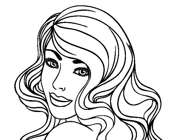 Dibujo De Chica Joven Para Colorear Face Drawing Sketches Drawings
