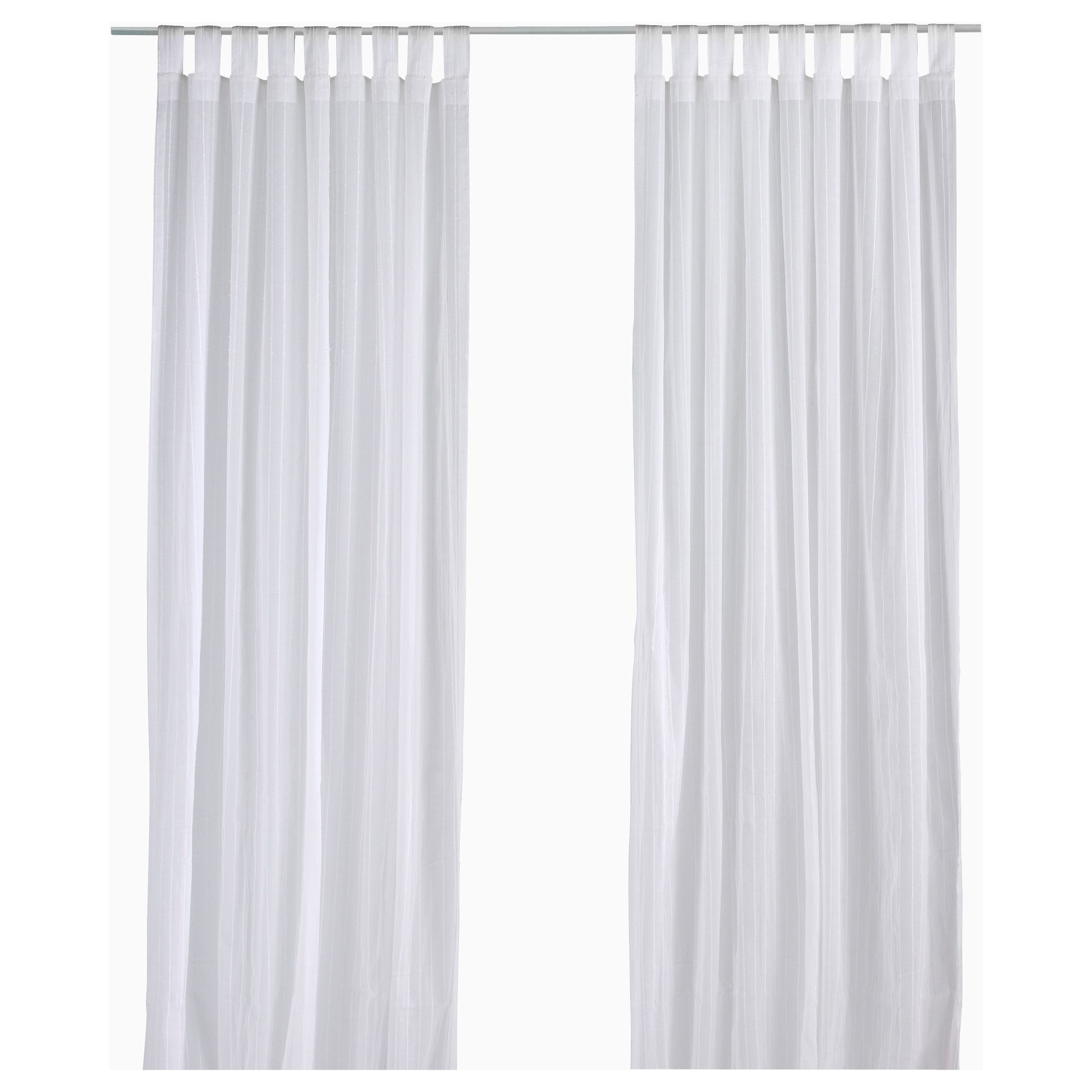 Matilda Sheer Curtains 1 Pair White The Old North