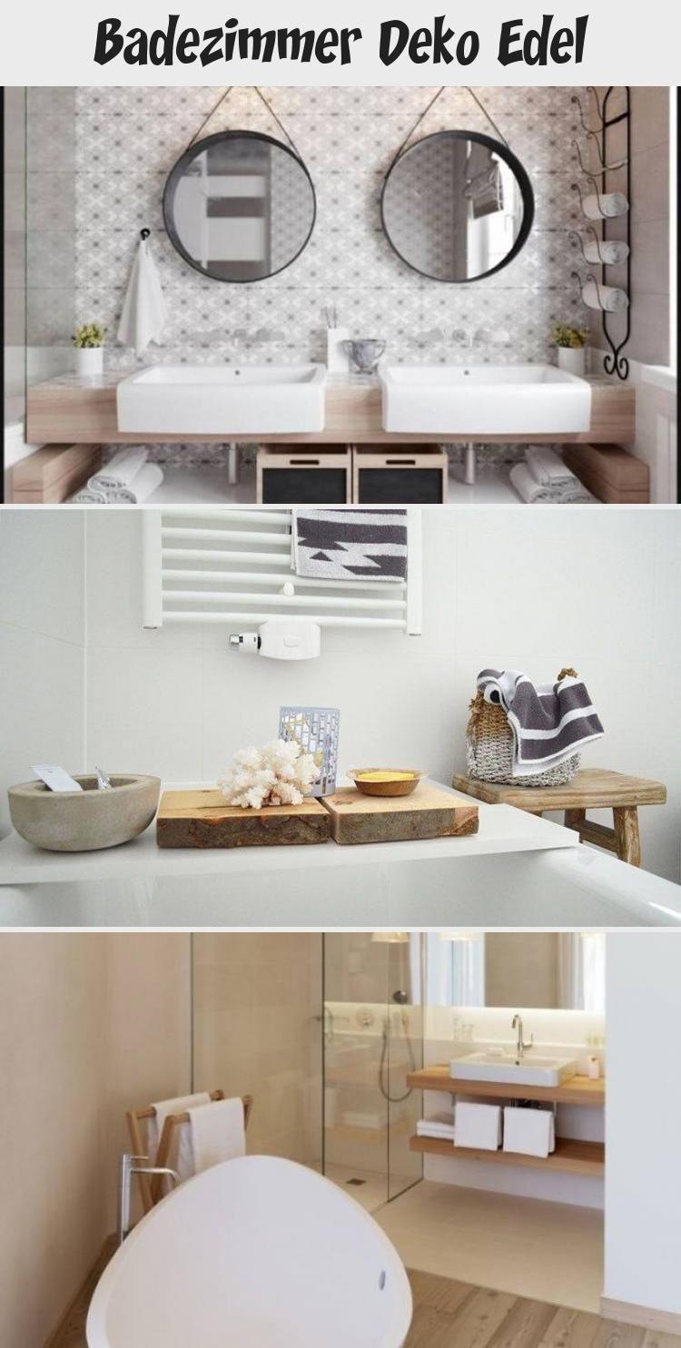 Badezimmer Deko Edel With Images Round Mirror Bathroom