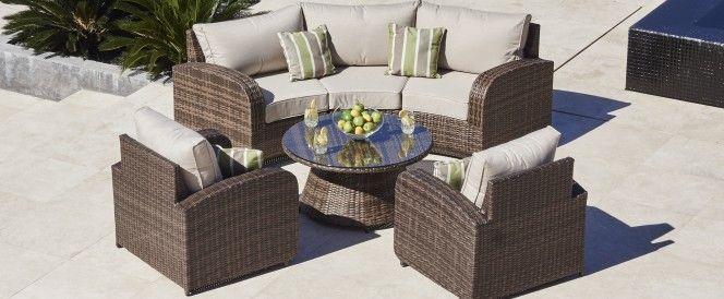 rattan half moon sofa set togo alternatives arc 4 garden furniture pinterest